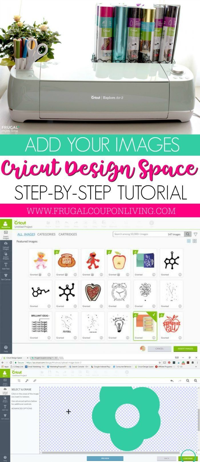 Easy Step by Step Circut Tutorial – How to Add Your Own Images to Cricut Desig...