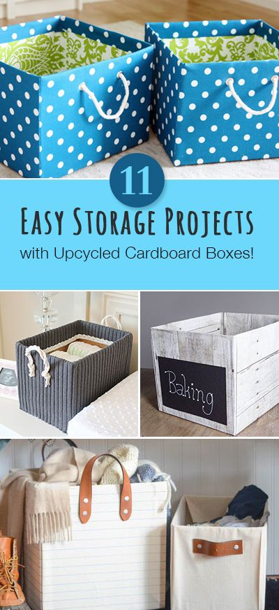 Diy Crafts Easy Storage Projects With Up Cycled Cardboard Boxes