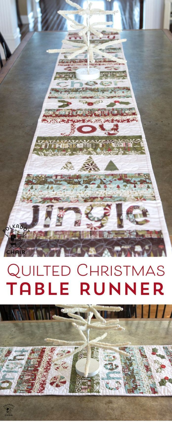 Christmas Table Runner Diy.Diy Crafts Free Sewing Pattern For A Quilted Christmas