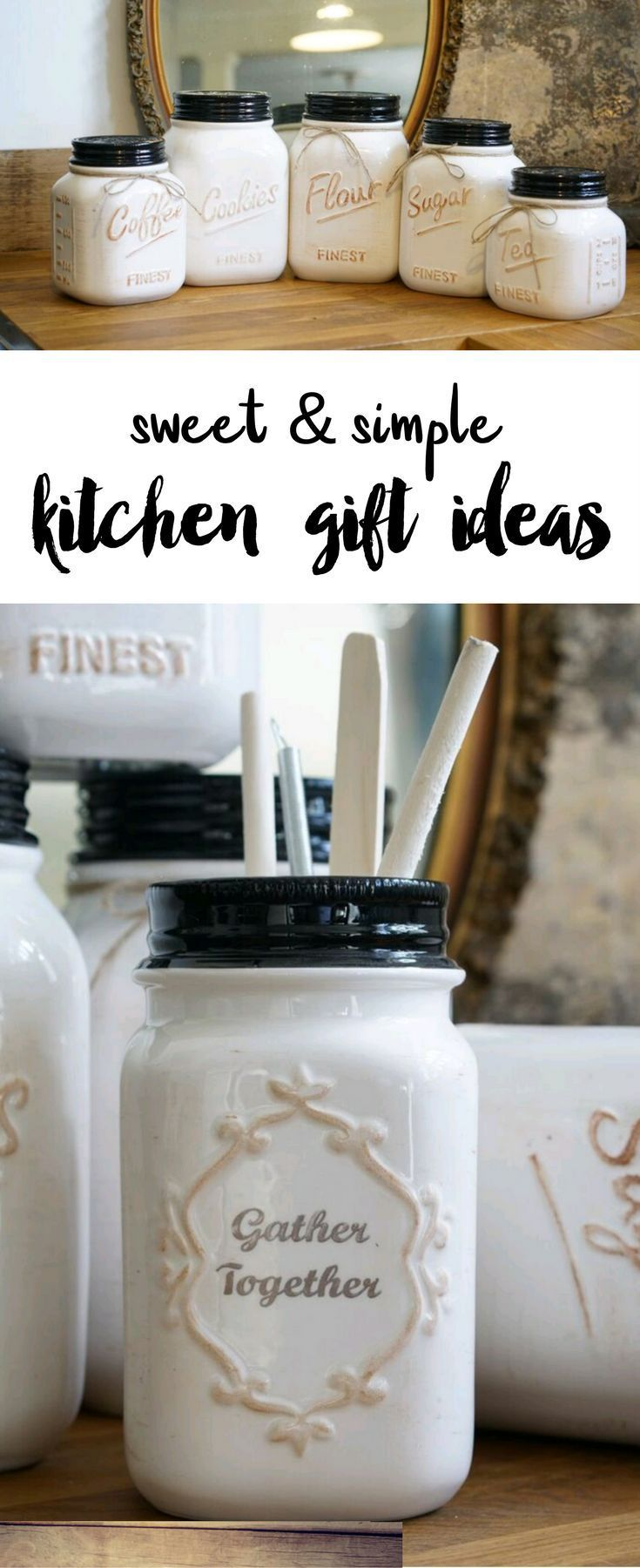 Diy Crafts Gorgeous Etched Baking Canister Set Sweet Simple