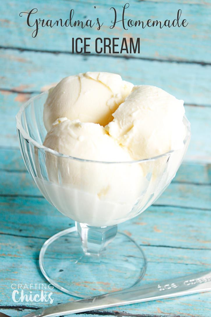 Grandma's Homemade Vanilla Ice Cream | A family favorite dessert recipe! Gre...