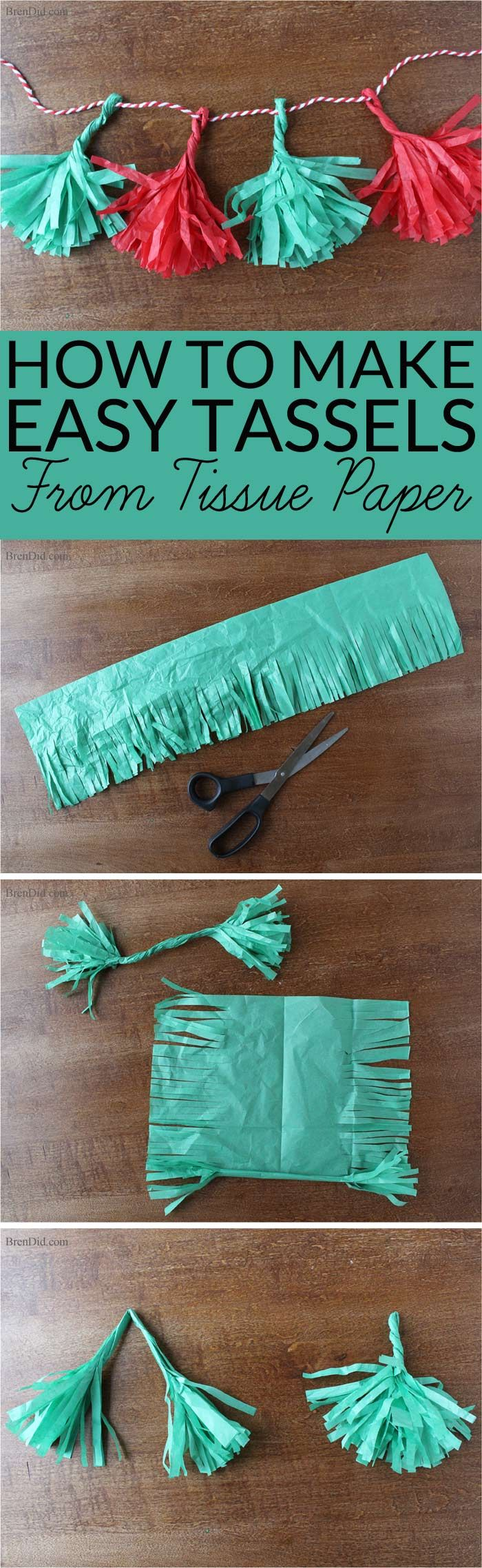 How to Make Tassels from Tissue Paper - Make your own free eco-friendly paper ta...