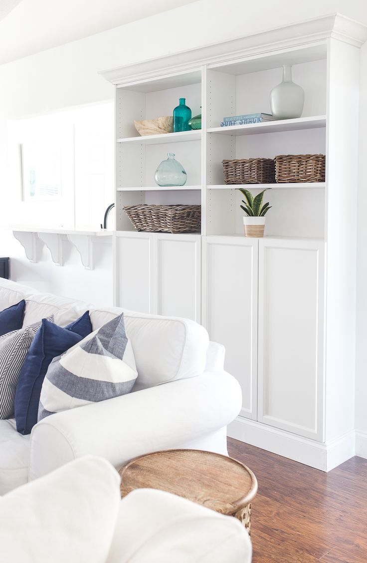 How to build a custom bookcases from the IKEA Billy