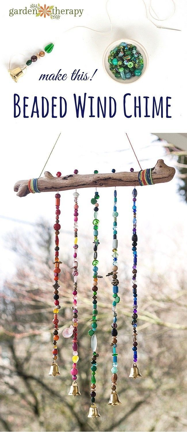 How to make a sparkling bead wind chime with bells! I'll admit I'm a bit of ...