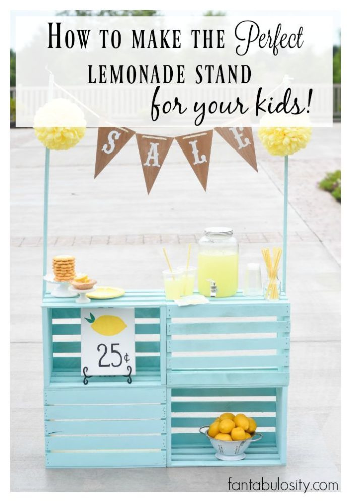 Diy crafts how to make the perfect lemonade stand for for Best diy home decor projects