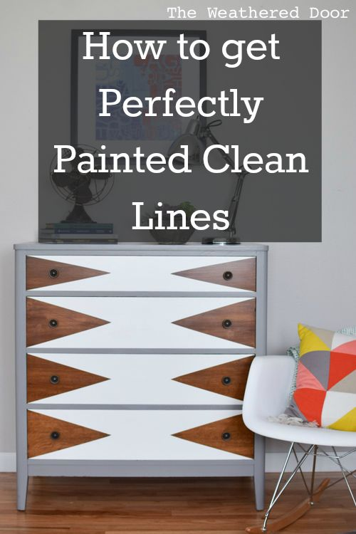 I got a question about how to get clean lines when painting a design on furnitur...
