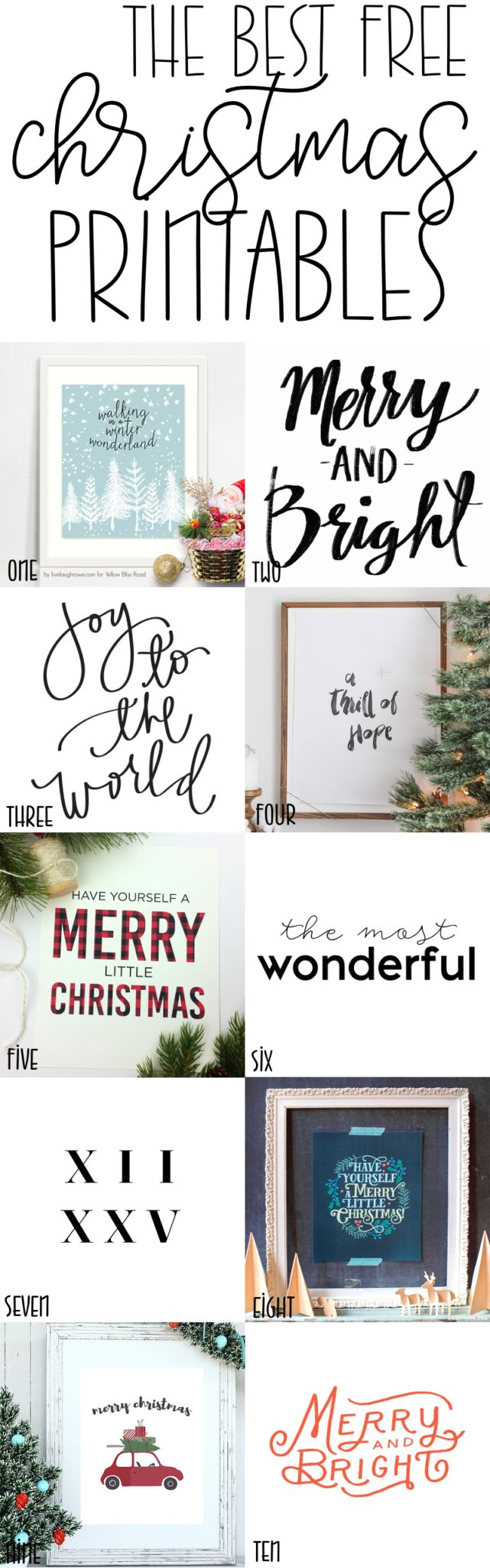 I've rounded up the 10 best free Christmas prints for you; these will make a...