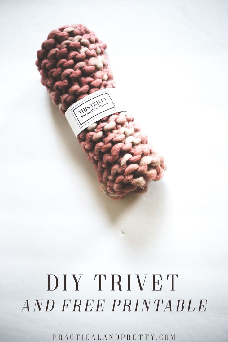 diy crafts knitting a trivet is literally one of the easiest