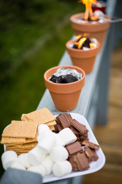 Make DIY S'more Pots: What's an outdoor party without some s'mores? ...