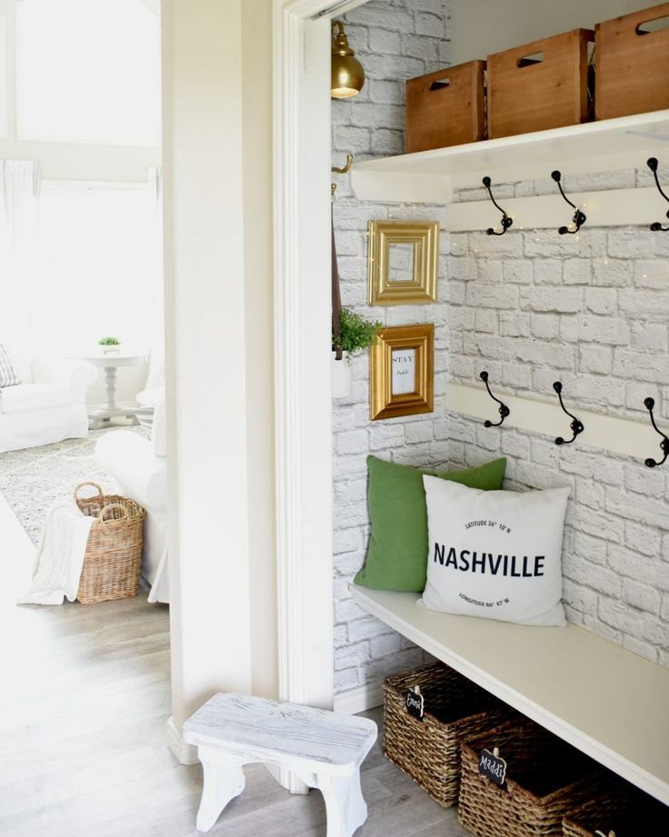 DIY Crafts : Mini Closet/Mudroom makeover - DIYall.net | Home of DIY ...