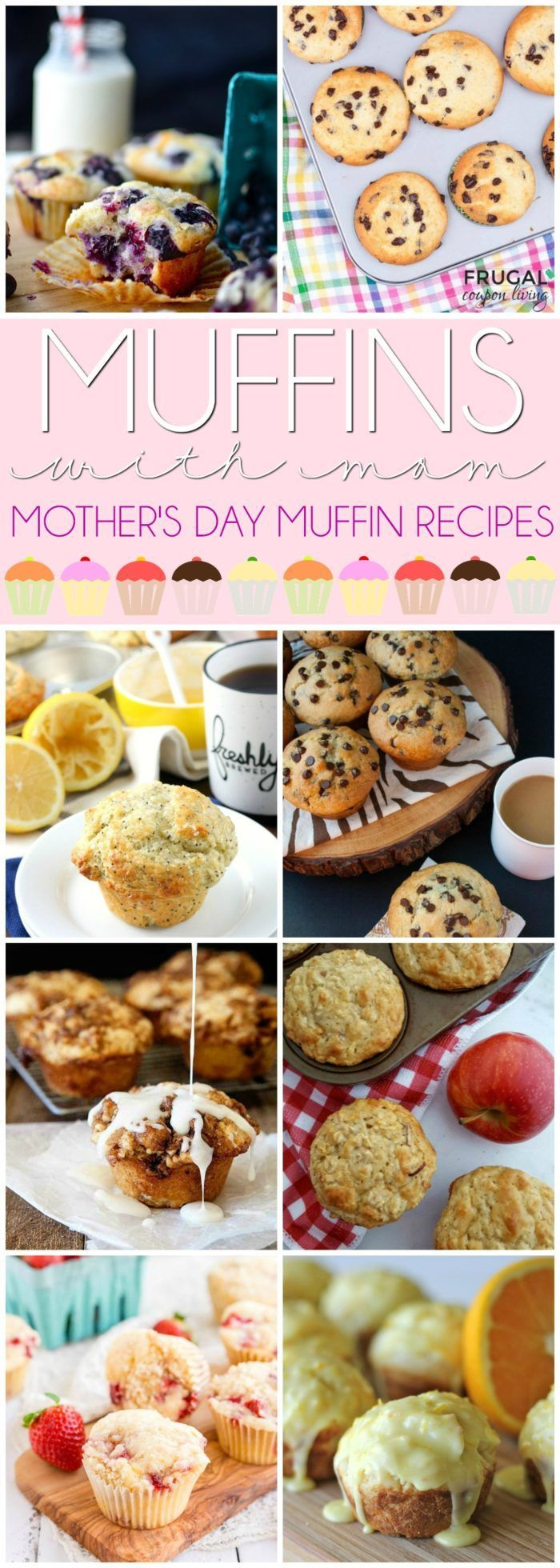 Muffins with Mom Muffin Recipes for Mother's Day #mothersday #muffinswithmommy...