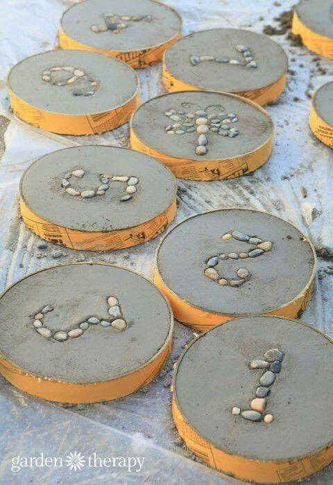 Diy Crafts Numbers And Letters Used In Rocks And Cement They Can