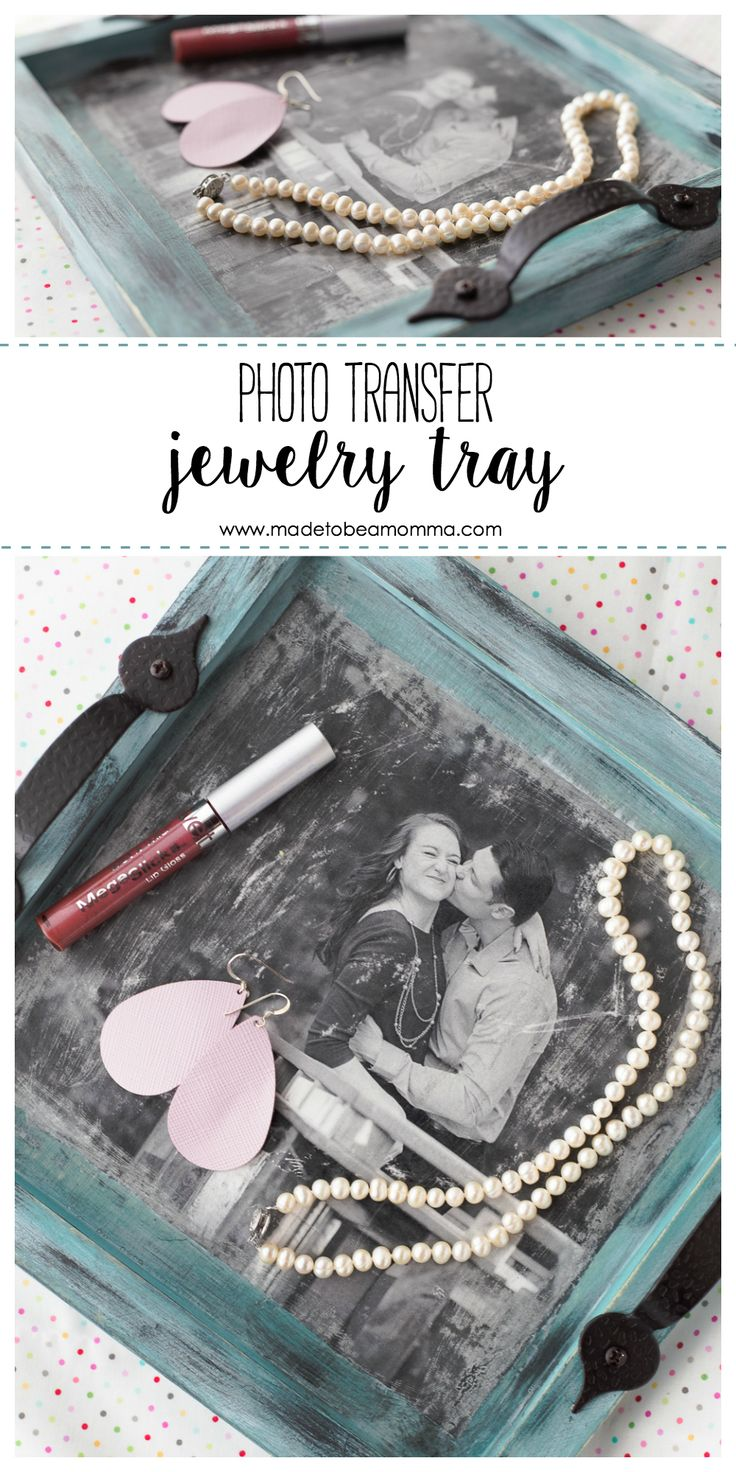 Photo Transfer Jewelry Tray: a simple and beautiful way to personalize a tray fo...