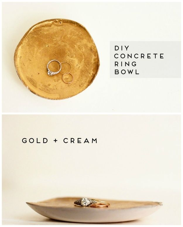 Ring Bowl | 22 Seriously Cool Cement Projects You Can Make At Home