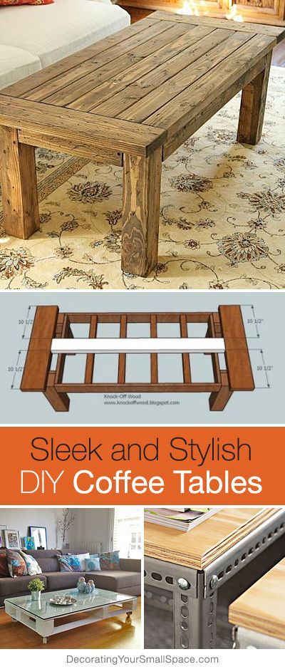 Sleek and Stylish DIY Coffee Tables • Lots of Ideas and Tutorials!