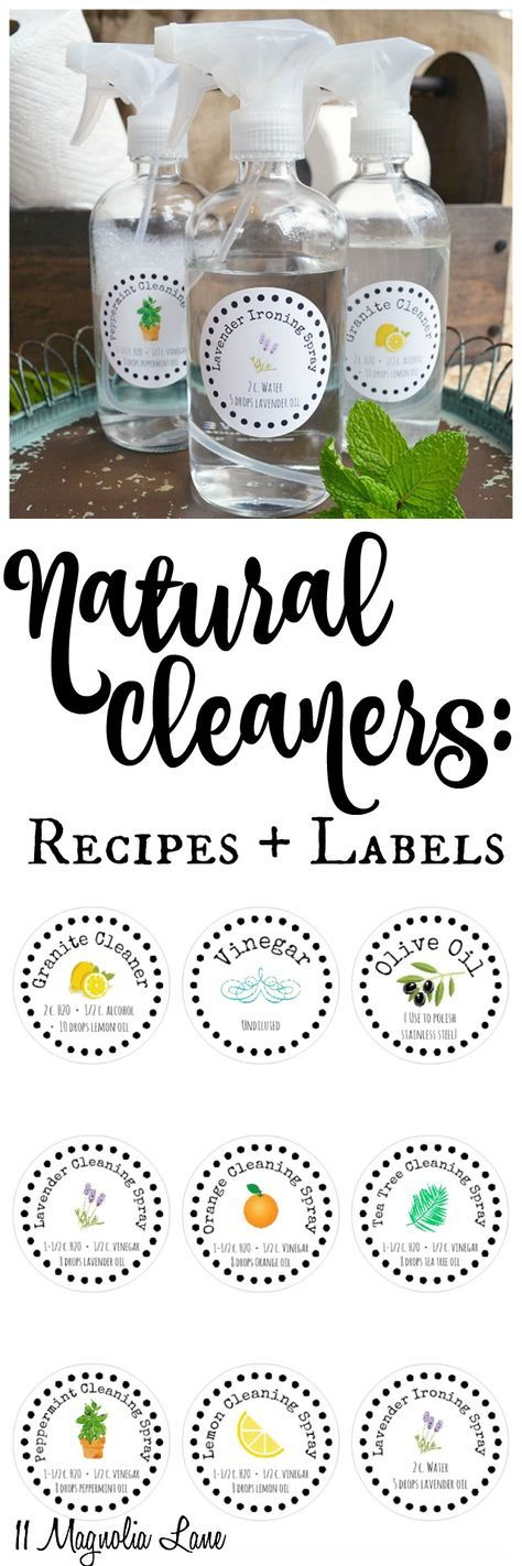 Spring cleaning tips, including natural cleaning solution recipes using essentia...