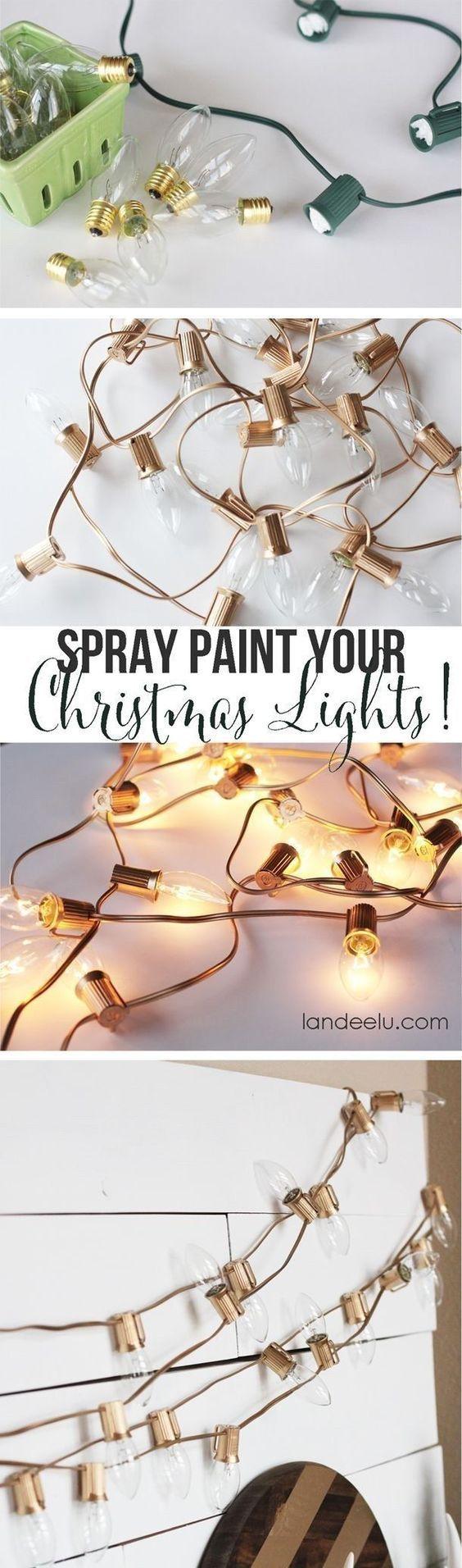Diy Crafts String Light Diy Ideas For Cool Home Decor Spray