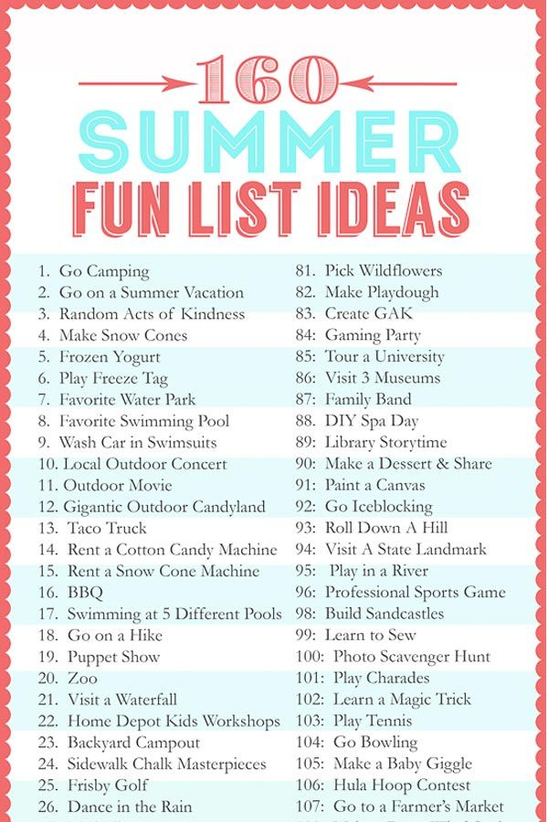 Diy Crafts Summer Fun List Of 160 Ideas Of Activities To Do With