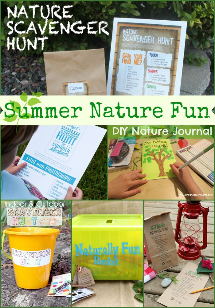 Summer Nature Fun for Kids!! A great collection of activities that kids will lov...