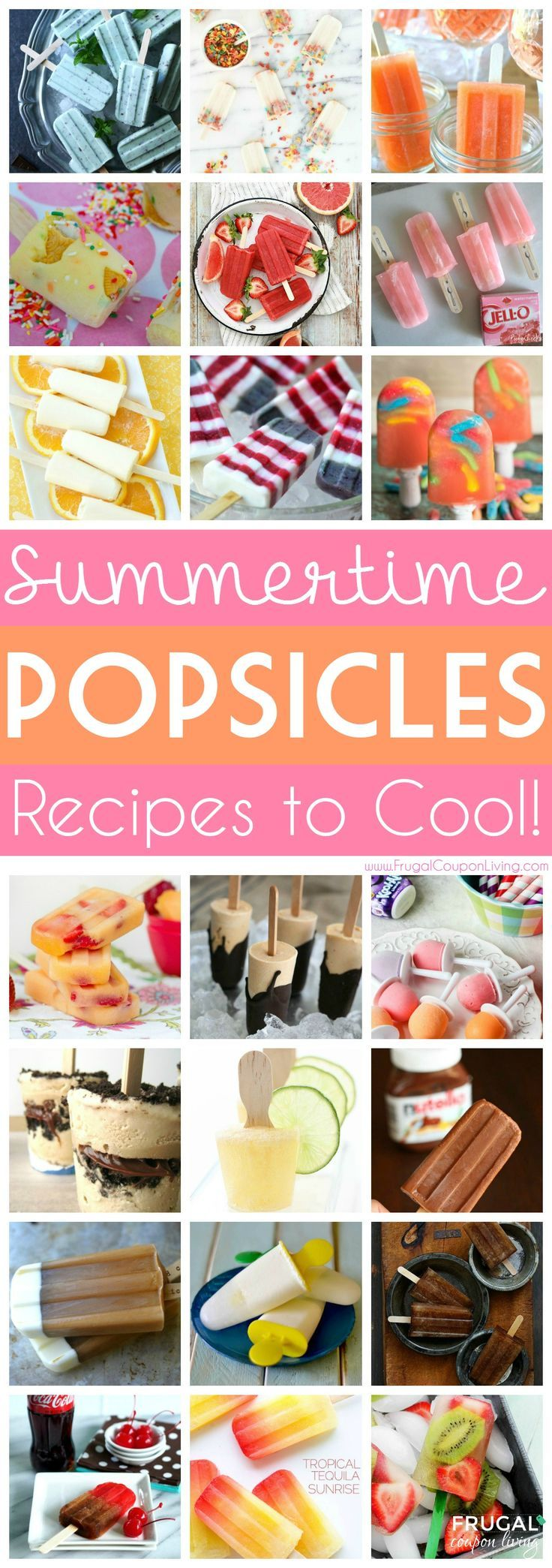 Summertime Popsicle Recipes – Cool Off Your Hot Days! Summer Kids Idea and Col...