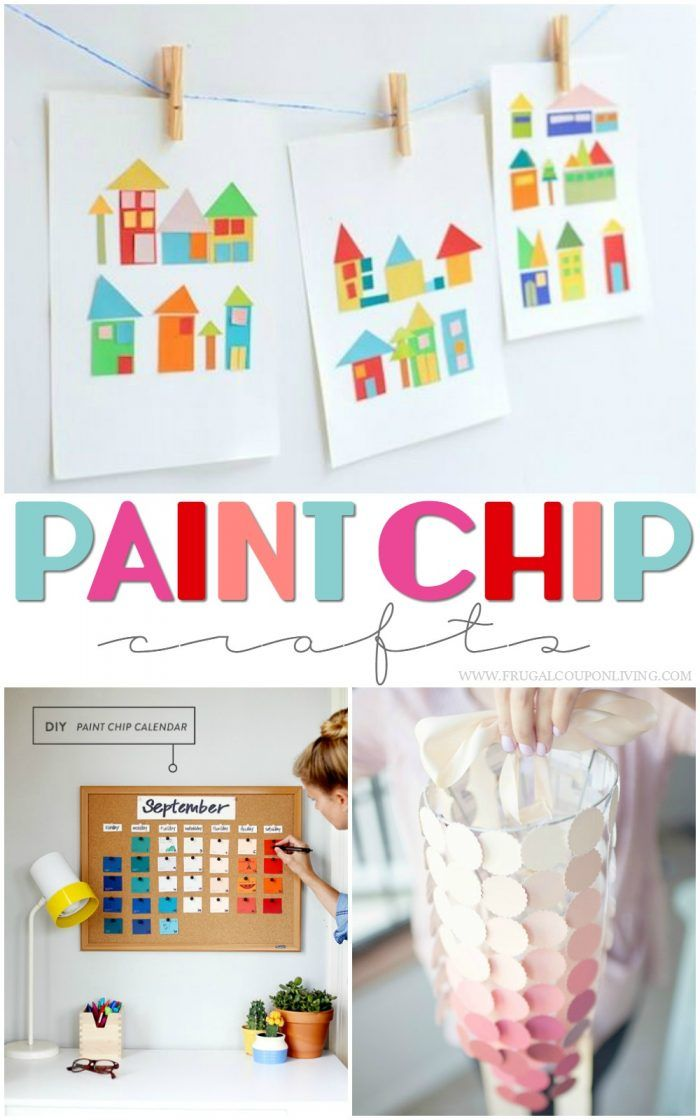 Take a look at these Paint Chip Ideas to make the perfect Paint Chip Crafts! Pai...