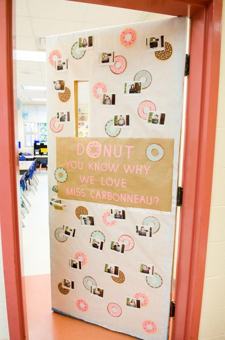Diy Crafts Teacher Appreciation Donut Door Decor Idea Diyall Net