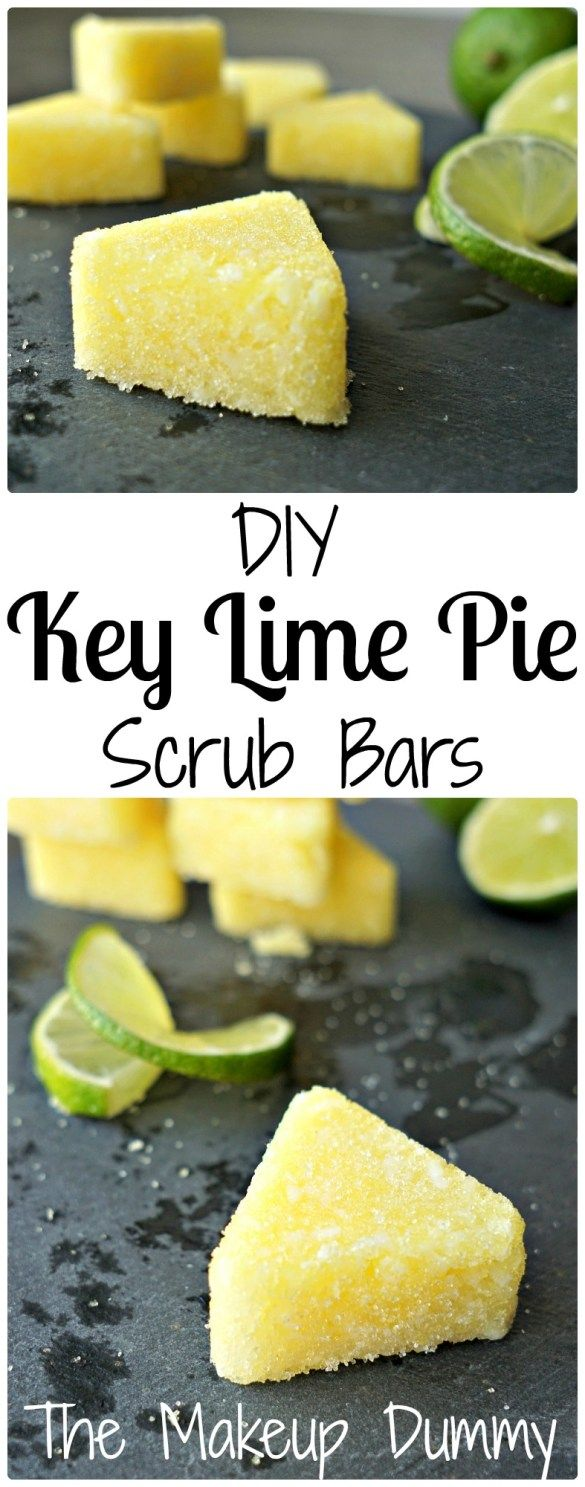 These Easy Sugar Scrub Bars smell amazing! How To make your own DIY Key Lime Pie...
