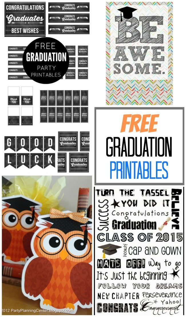 This collection of free printables for graduation includes something for everyon...