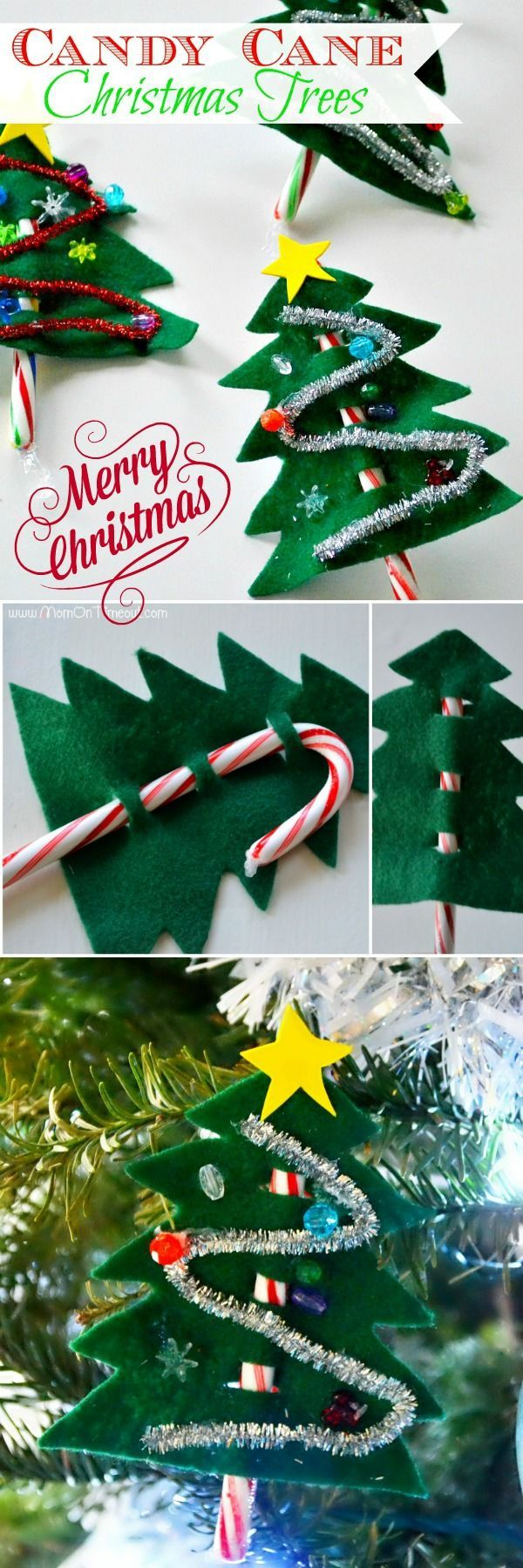 Tis the season for all sorts of fun! These easy Candy Cane Christmas Trees are a...