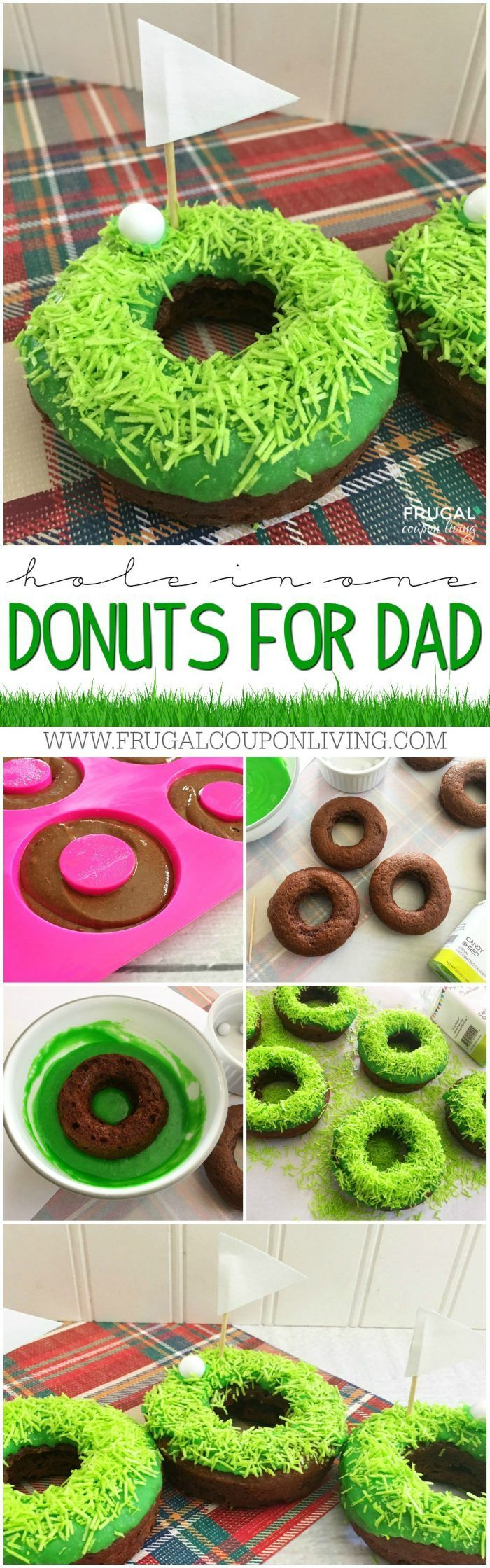 We love these Golf Donuts for Dad! We made an easy Father's Day Dessert that is ...