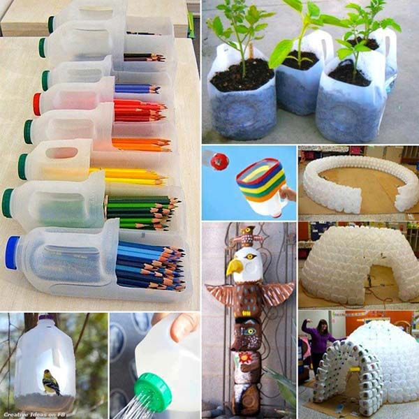 8 Great #Recycling Projects With Pet Plastic #decoration #diy