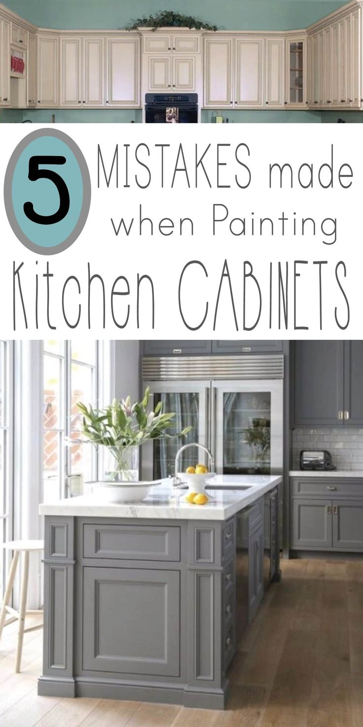 Are you ready to tackle the job of painting kitchen cabinets? Learning from othe...