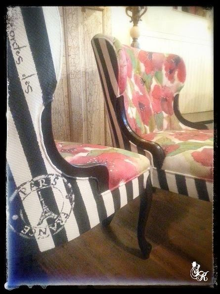 Chair The Love: Vintage Chairs Gets A French Poppy Makeover