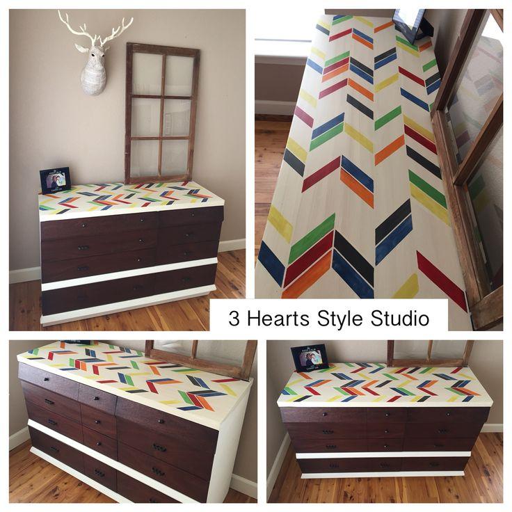 DIY Furniture : Herringbone dresser. Mid century modern ...