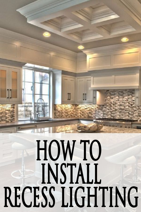 Learn how to install recessed lighting in your own kitchen!