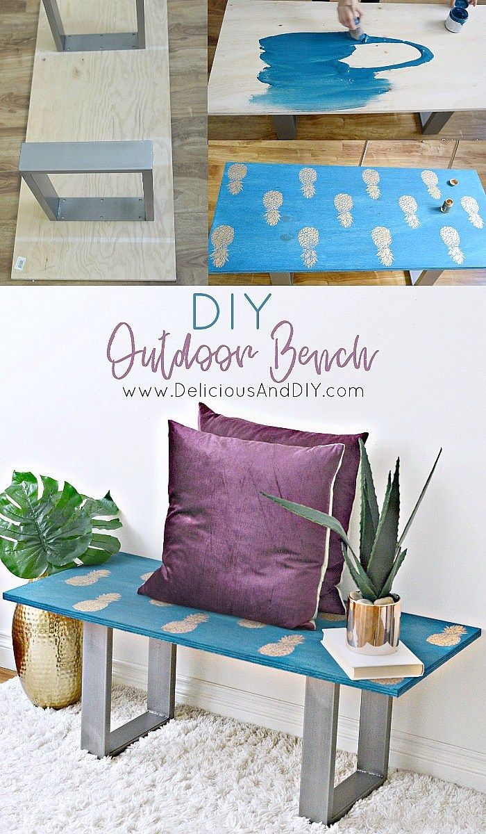 Learn how to make your own Bench just by using a few simple supplies, this is pe...
