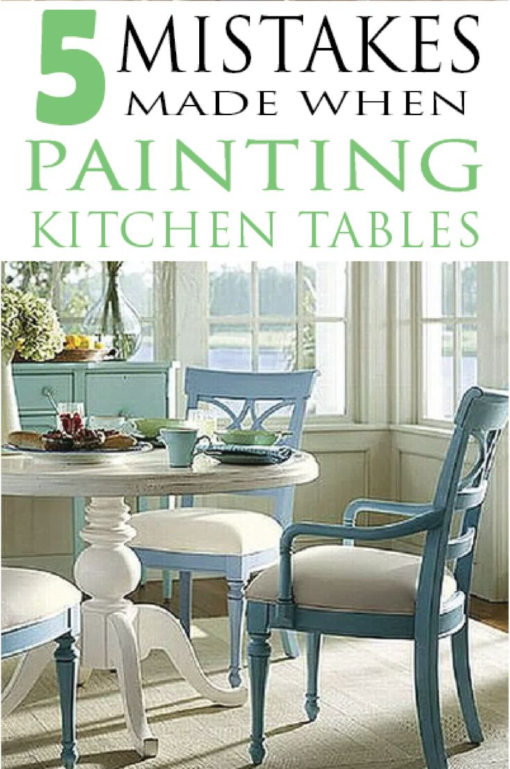 Learn how to paint it right by avoiding these mistakes when painting kitchen tab...