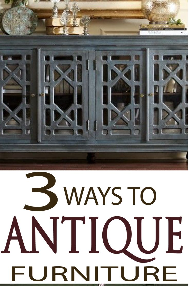 Learn the easy steps to paint antiqued furniture 3 different ways!