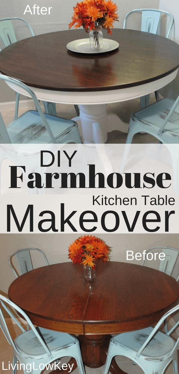 Look how amazing this DIY Farmhouse Table turned out! The best part of doing DIY...
