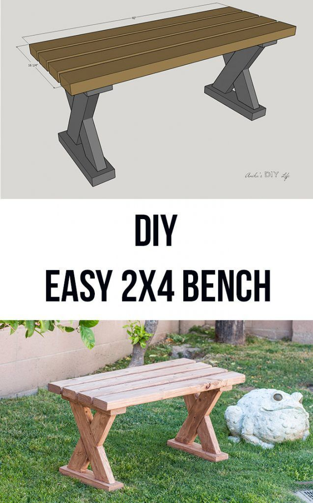 Diy Furniture Love How Easy And Simple It Is To Build This Diy 2x4