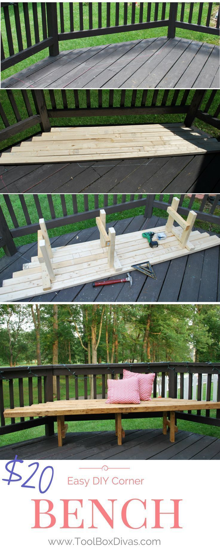 Need outdoor seating? Make your own seating with these super simple build plans....