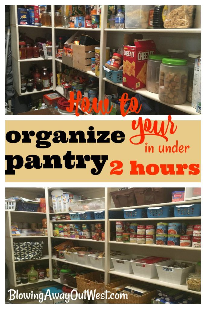Organize your Pantry in 2 hours or less