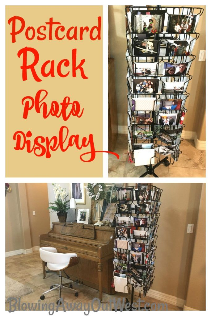 Postcard Rack Photo Display - Blowing Away Out West