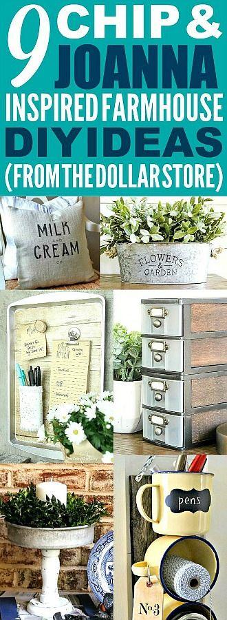 These dollar store farmhouse decor ideas are really great! I'm happy I found the...