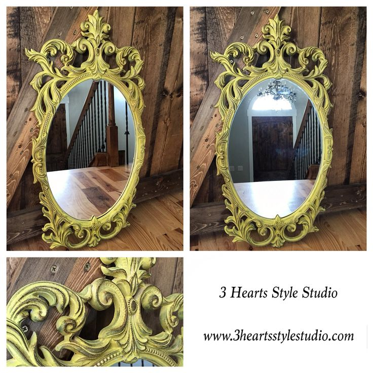 Yellow ornate mirror straight from a fairy tale. Made local in Denver, CO. Find ...