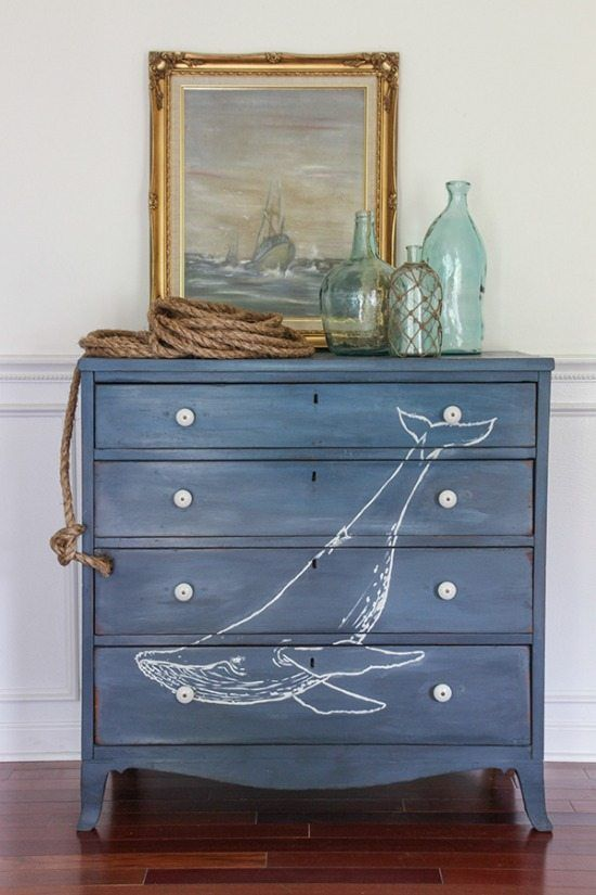 nautical dresser - Check out these 15 Nautical Furniture Flips - DIY furniture i...
