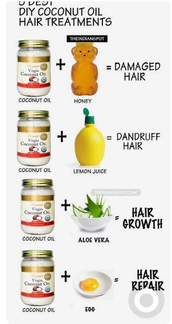 Coconut oil for hair