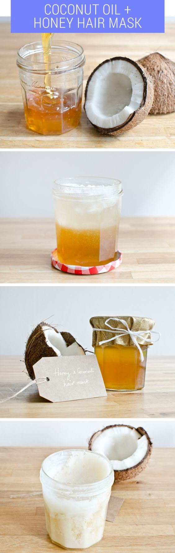 DIY Coconut and Honey Hair Mask | For more ideas, click the picture or visit www...