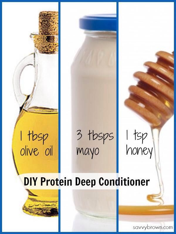 DIY Deep Hair Conditioner!Add Honey, Mayo,&Olive Oil To Any Conditioner. Leave O...