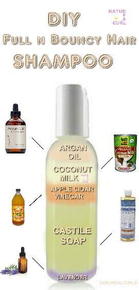 Natural Hair ° Diy All Natural Shampoo recipe for full and bouncy hair (volume!...